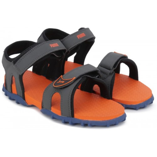 Puma Boys Grey Velcro Sports Sandals