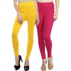 Sakhi Sang Legging(Yellow, Pink, Solid)