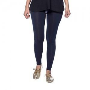 De Moza Ladies Ankle Length Leggings Solid Cotton Lycra