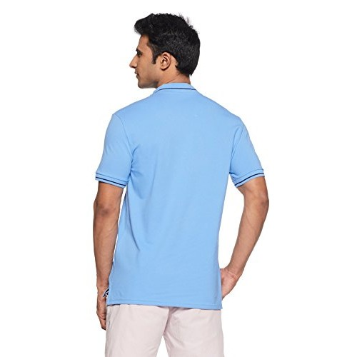United Colors of Benetton Blue Solid Regular Fit Cotton T-Shirt