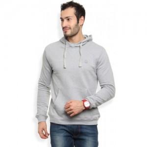 United Colors of Benetton Grey Full Sleeve Solid Sweatshirt