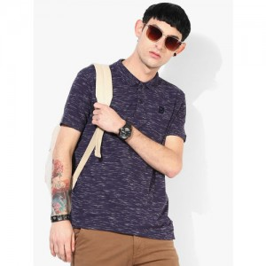 Pepe Jeans Navy Cotton Half Sleeves Polo T-Shirt