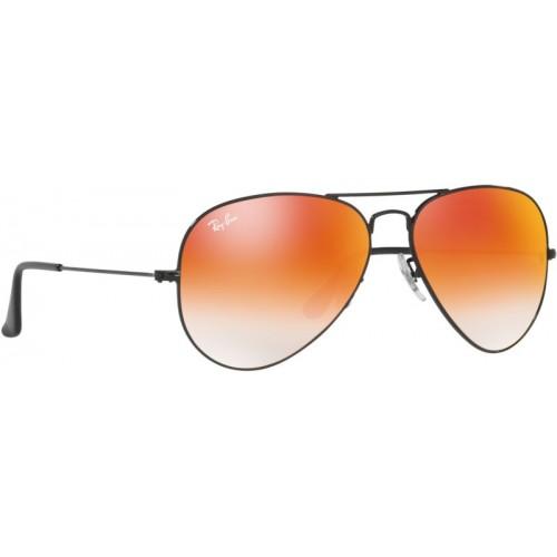 Ray-Ban Orange Full Frame Aviator Sunglasses
