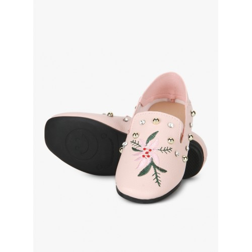 Kittens Pink Synthetic Belly Shoes