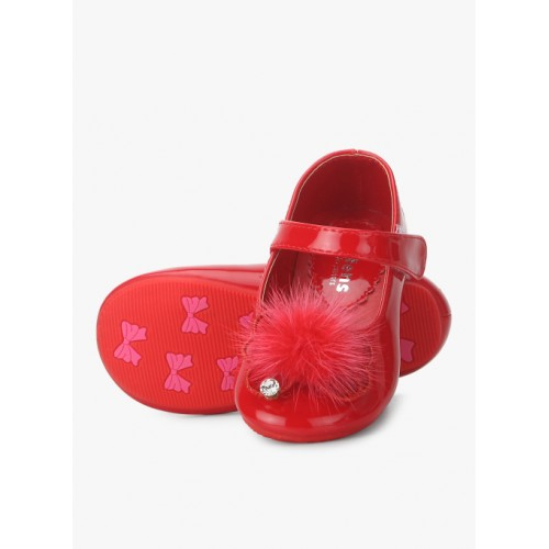 Kittens Red Leather Belly Shoes