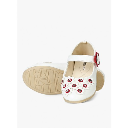 Kittens White Synthetic Belly Shoes