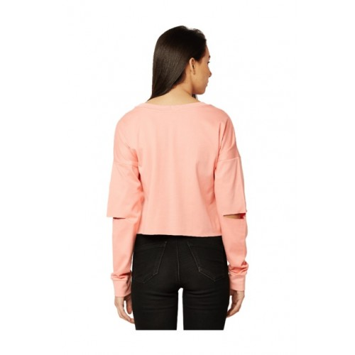 Miss Chase Pink Loose Fit Sweatshirt