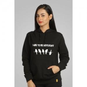 Campus Sutra Black Full Sleeve Printed Sweatshirt