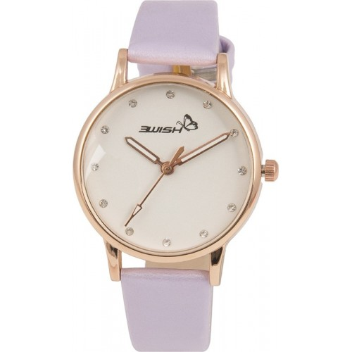 3Wish 3WW-1202_DD Analog White Dial and Purple Strap Watch  - For Women