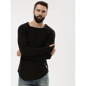 547406a7528 Kultprit Square Neck T-Shirt With Thumbhole