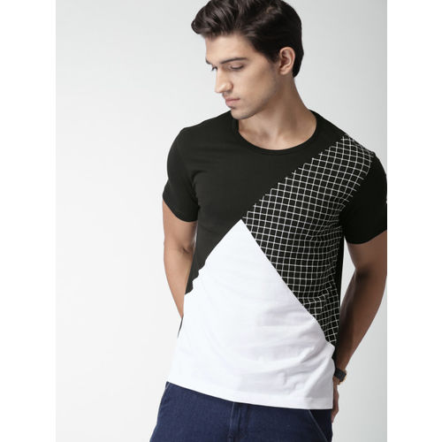 INVICTUS Black Colourblocked Round Neck T-Shirt