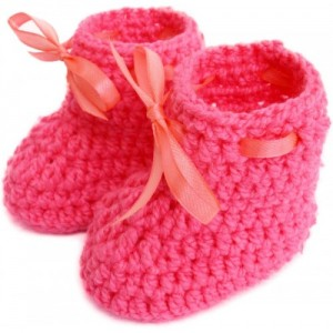 Love Crochet Art Pink Boots