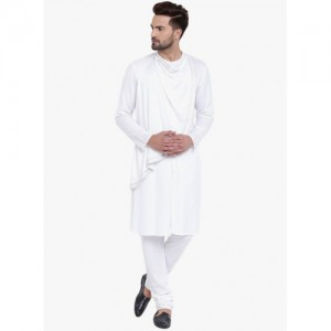 I Know White Solid Kurta Pyjama