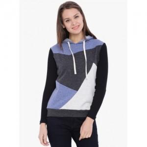 Campus Sutra Multicoloured Solid Sweatshirt