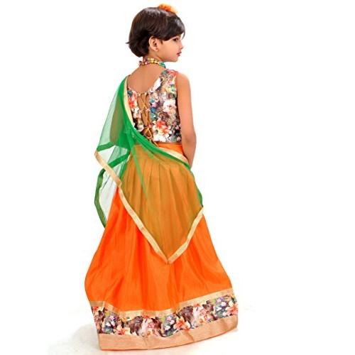 f566707dc Buy Arrow Fashion Baby Girl Cotton Silk Lehenga Choli (Orange ...