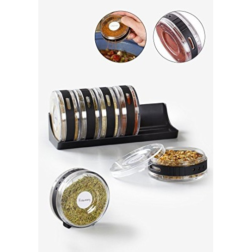 Zollyss Plastic Spices Organizer- Set of 6
