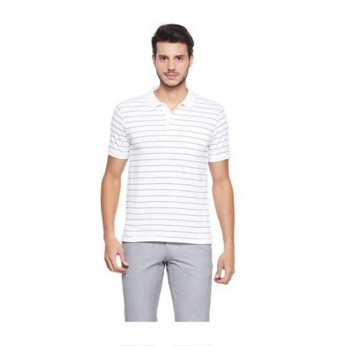 7d95ed050 Buy Van Heusen White Regular Fit Polo T-Shirt online | Looksgud.in