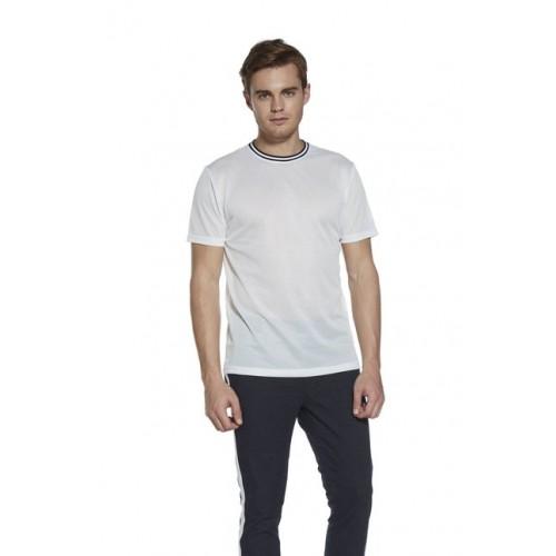 01588e07ce Buy Nuon Men Nuon by Westside White Slim Fit Mesh T-Shirt online ...
