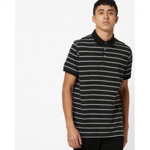 INDIAN TERRAIN Slim Fit Striped Polo T-shirt