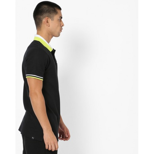 Puma Polo T-shirt with Embroidered Branding