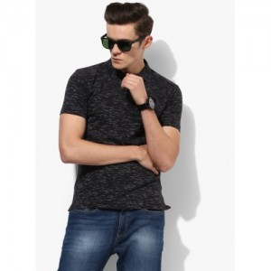 0cbdb97945 Buy Basics Black Printed Slim Fit Polo T-shirt online