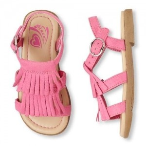 The Children's Place Girls Fringed Zahara Pink Sandal