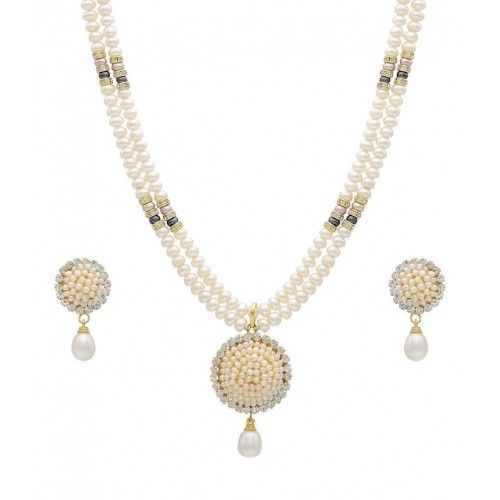 Hyderabad Jewels Natural Pearls Necklace Set