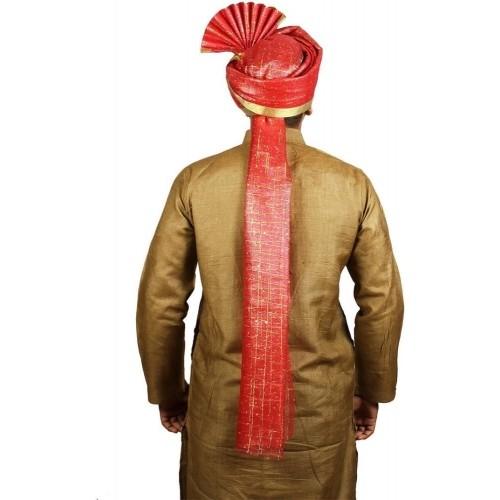Ekolhapuri Red Solid Polyester Pagri