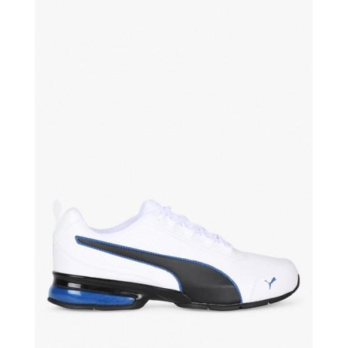 PUMA Men White & Black Leader VT SL Running Shoes