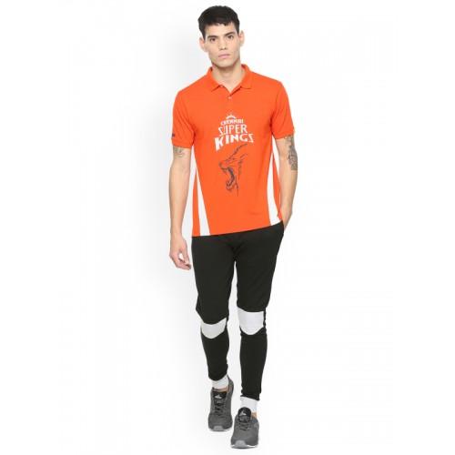 23911b9d Buy Peter England Men Orange Chennai Super Kings Slim Fit T-shirt ...