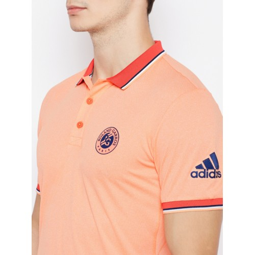 Adidas Men Orange RG Tennis Polo T-shirt