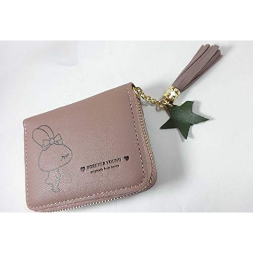 Surbhi Pink Leather Solid Wallets
