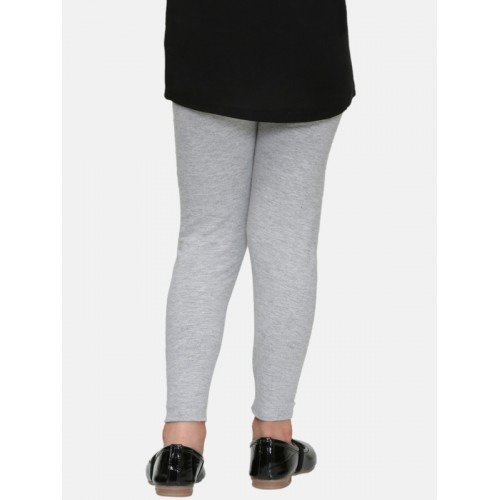 DChica Girls Grey Printed Leggings