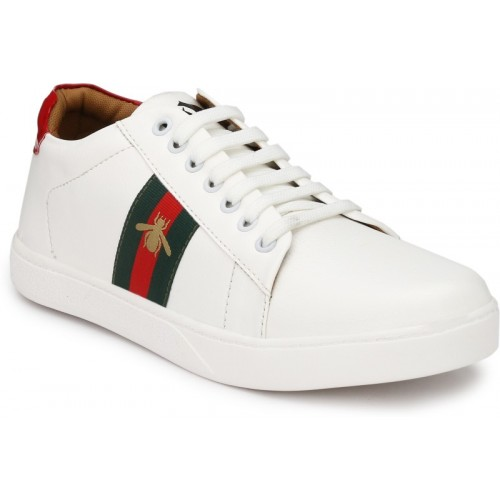 ACE white casual sneakers. Sneakers
