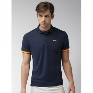 Nike Men Blue Court Dry Standard Fit DRI-FIT Polo T-shirt