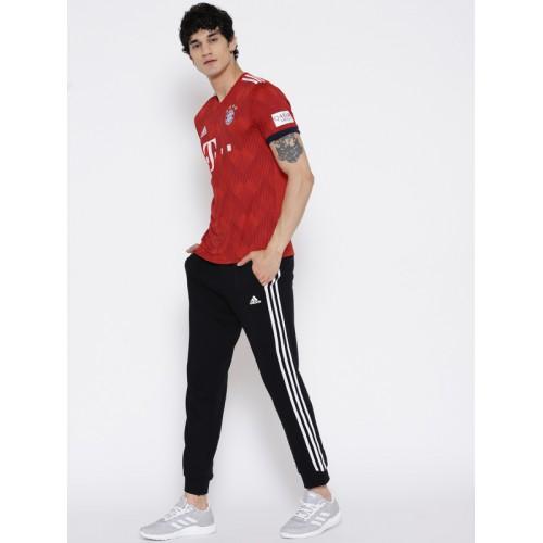 Adidas Men Red & White Printed FC Bayern Munich H Football Jersey