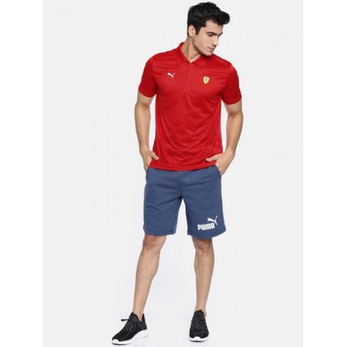 a8b0a536 Buy Puma Men Red Self-Design Scuderia Ferrari EVO Polo T-shirt ...