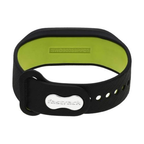 Fastrack SWD90059PP05 2.0 Fitness Black Slicone Fitness Band