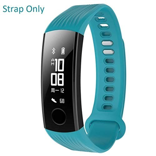 Iloft Silicone Waterproof Replacement Wrist Strap for Huawei Honor Band 3 (Turquoise)