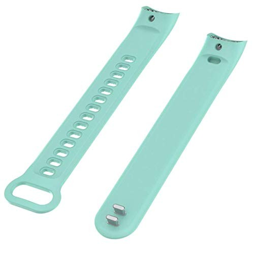 Iloft Silicone Waterproof Replacement Wrist Strap for Huawei Honor Band 3 (Cyan)