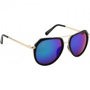 Aislin Aviator Sunglasses(Blue, Green)