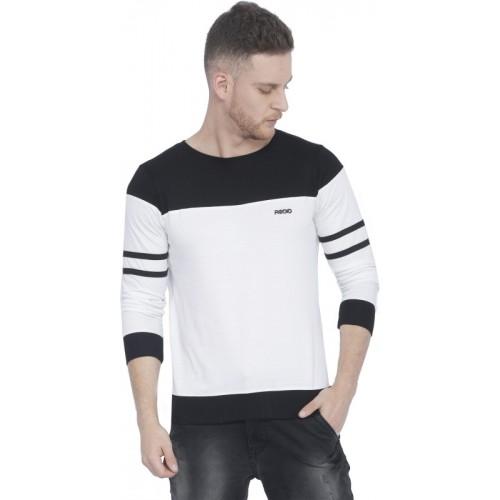 Rodid Solid Men's Round Neck White T-Shirt