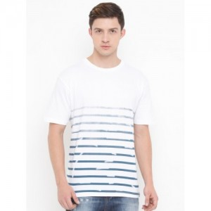 d437403f2fc Buy United Colors of Benetton Striped Men s Polo Neck T-Shirt online ...