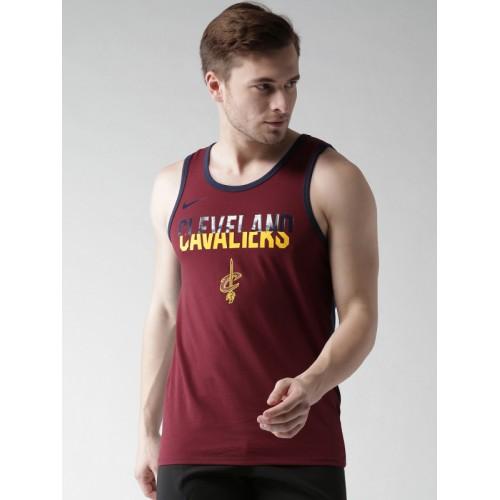 sale retailer 57218 c2c72 Buy Nike Men Maroon Team NBA CLEVELAND CAVALIERS DRY-FIT ...