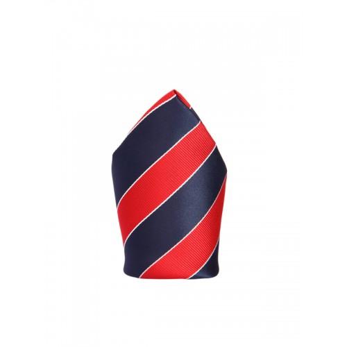 d5cab9e52962 Buy Tossido Blue & Red Microfiber Striped Pocket Square online ...