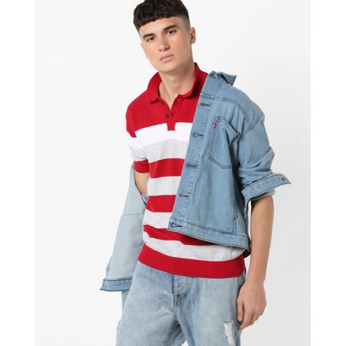 fd64dad0c Buy NETPLAY Striped Slim Fit Polo T-shirt online | Looksgud.in