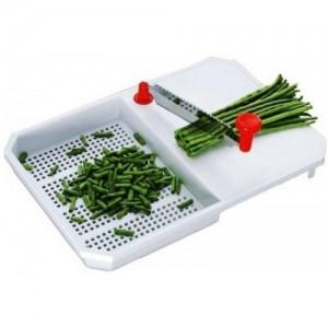 Ezee White Plastic Cut & Wash Vegetable Fruits Chopping Board