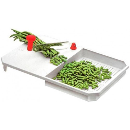Ezee White Plastic Cut & Wash Vegetable Fruits Chopping Board