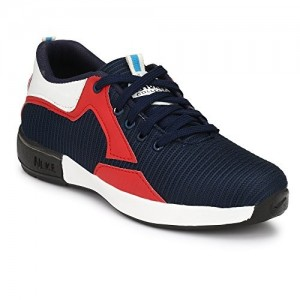 Big Fox Navy Blue & Red Mesh Lace Up Sports Shoes