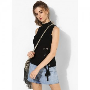 Forever 21 Black Acrylic Self Pattern Sweater